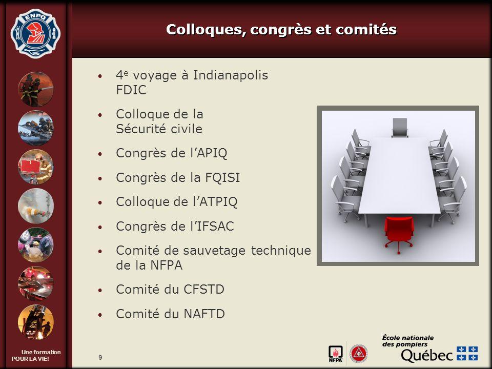 Colloques, congrès et comités