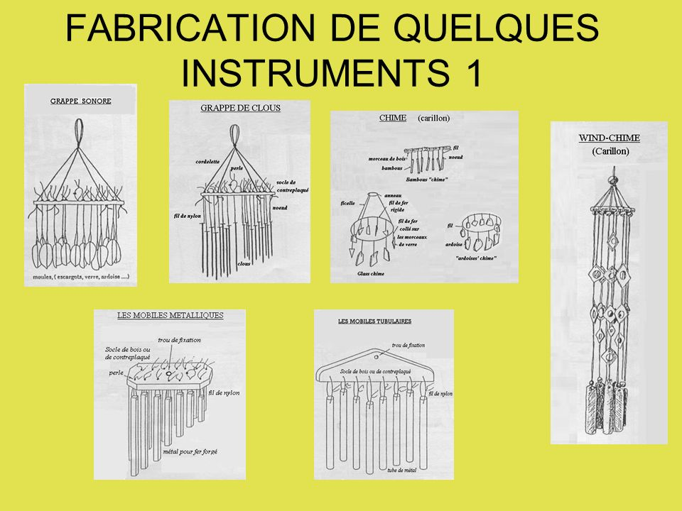 FABRICATION DE QUELQUES INSTRUMENTS 1