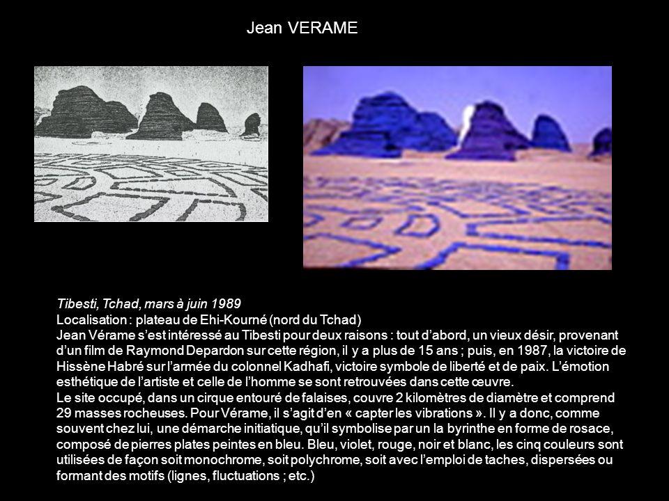 Jean VERAME Tibesti, Tchad, mars à juin 1989