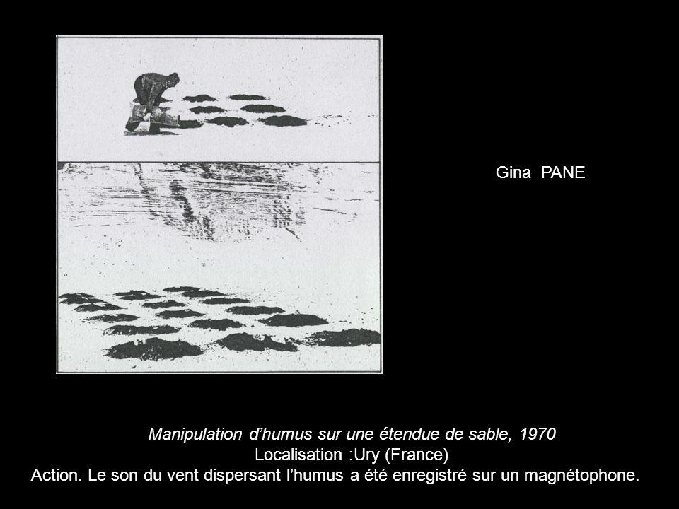 Manipulation d'humus sur une étendue de sable, 1970