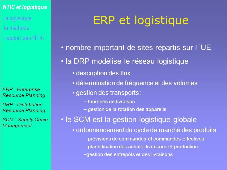 ERP et logistique nombre important de sites répartis sur l 'UE