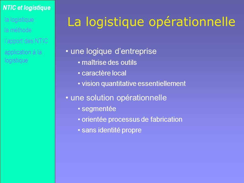 La logistique opérationnelle