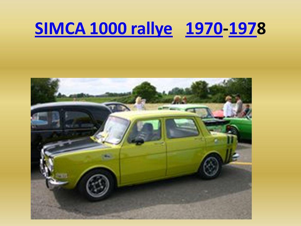 SIMCA 1000 rallye 1970-1978