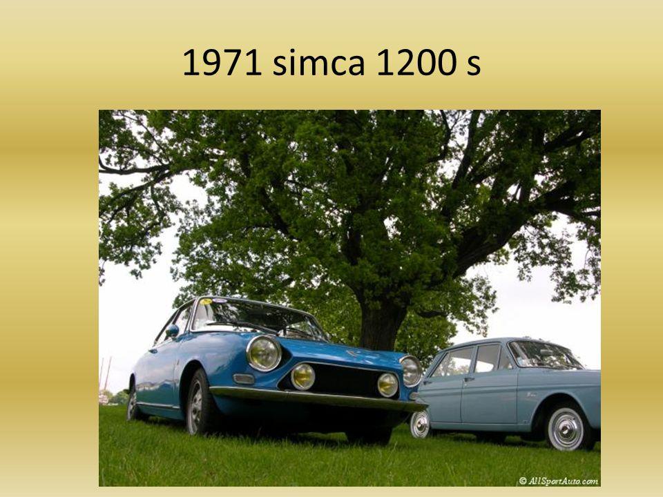 1971 simca 1200 s