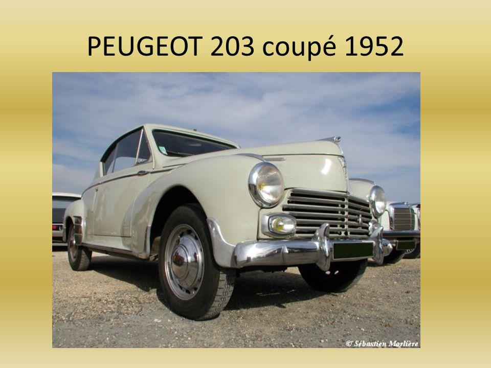 PEUGEOT 203 coupé 1952
