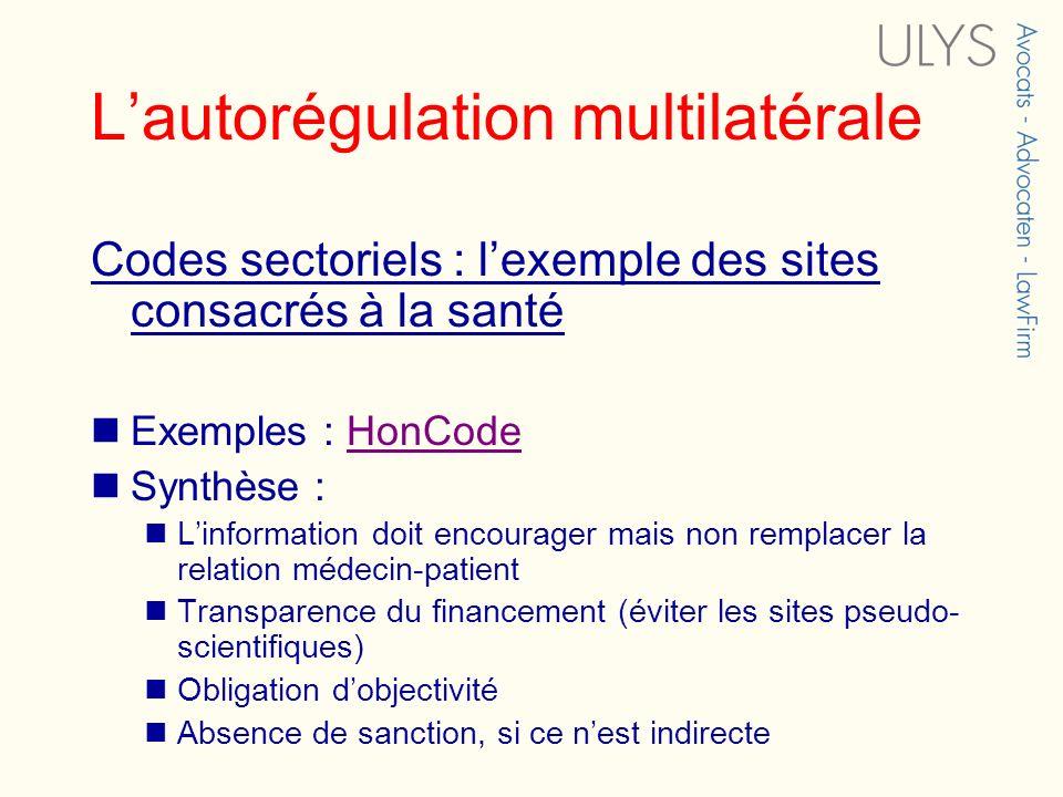 L'autorégulation multilatérale