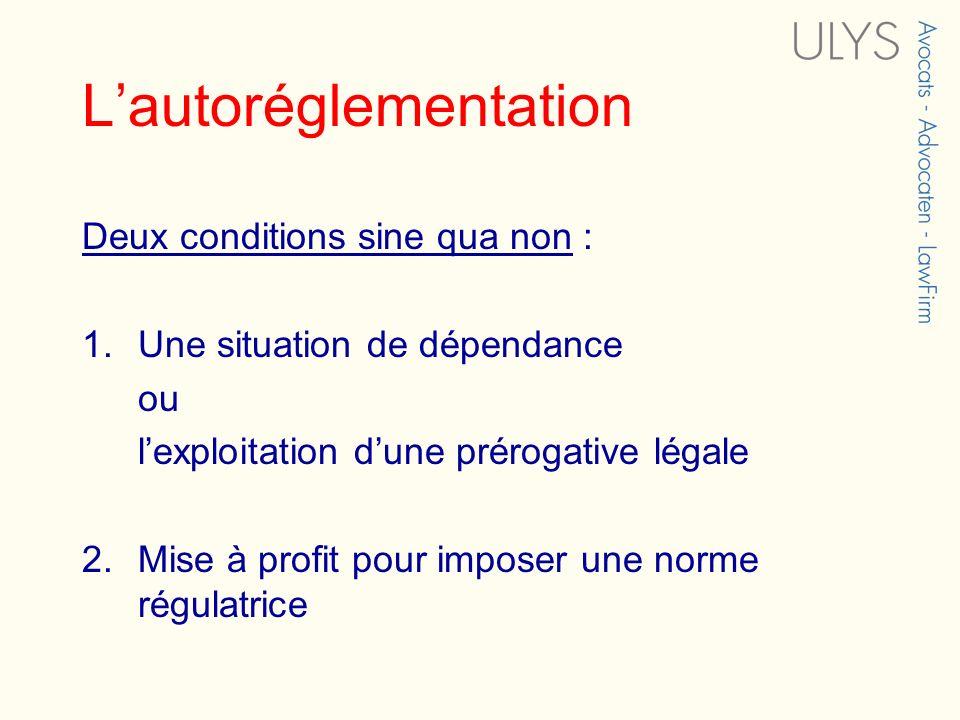 L'autoréglementation