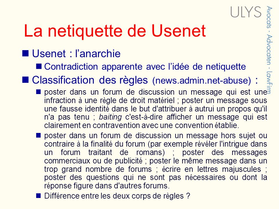 La netiquette de Usenet