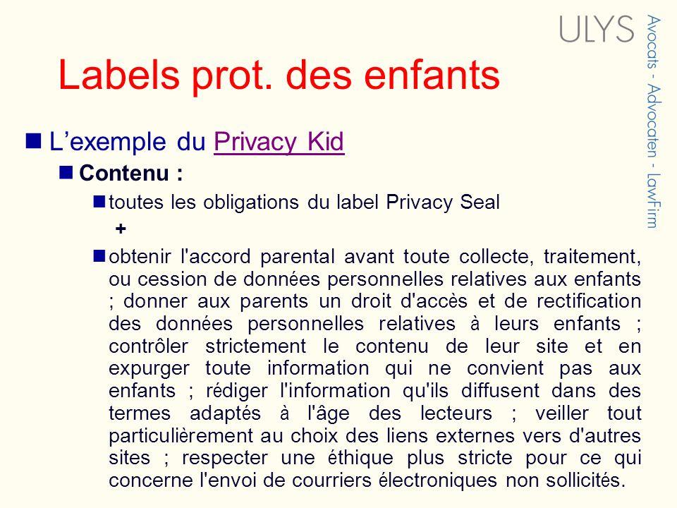 Labels prot. des enfants