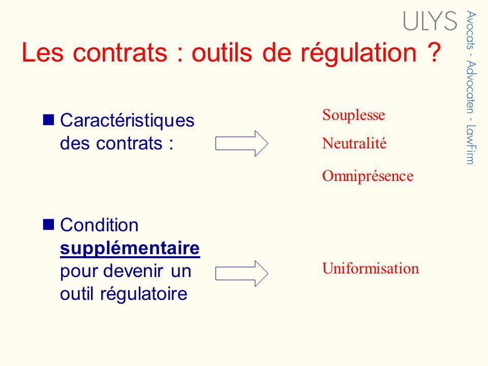Les contrats : outils de régulation