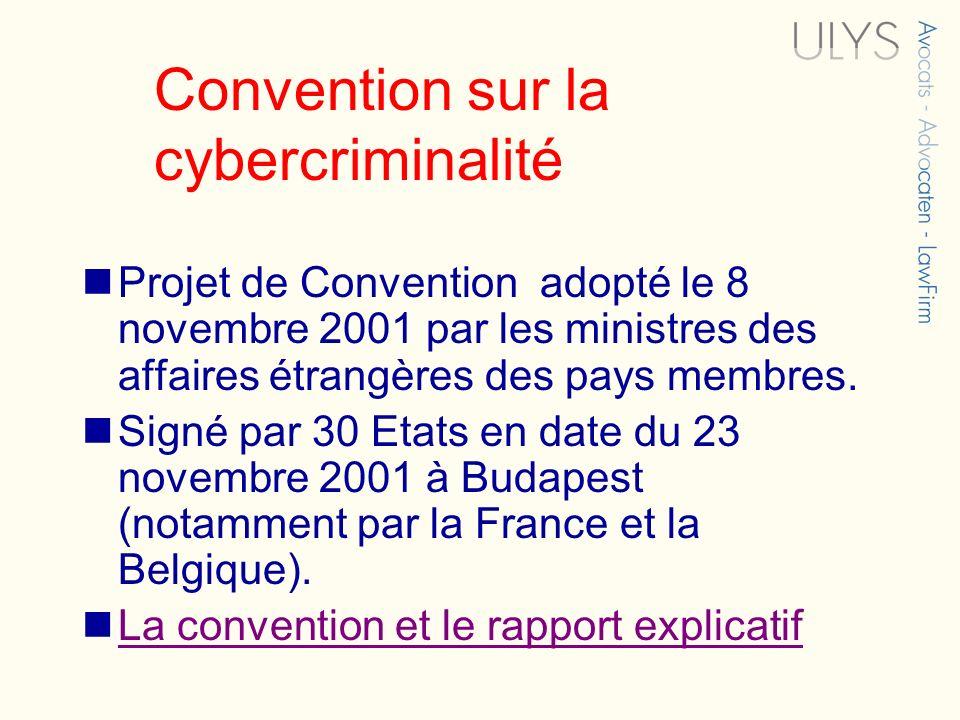 Convention sur la cybercriminalité