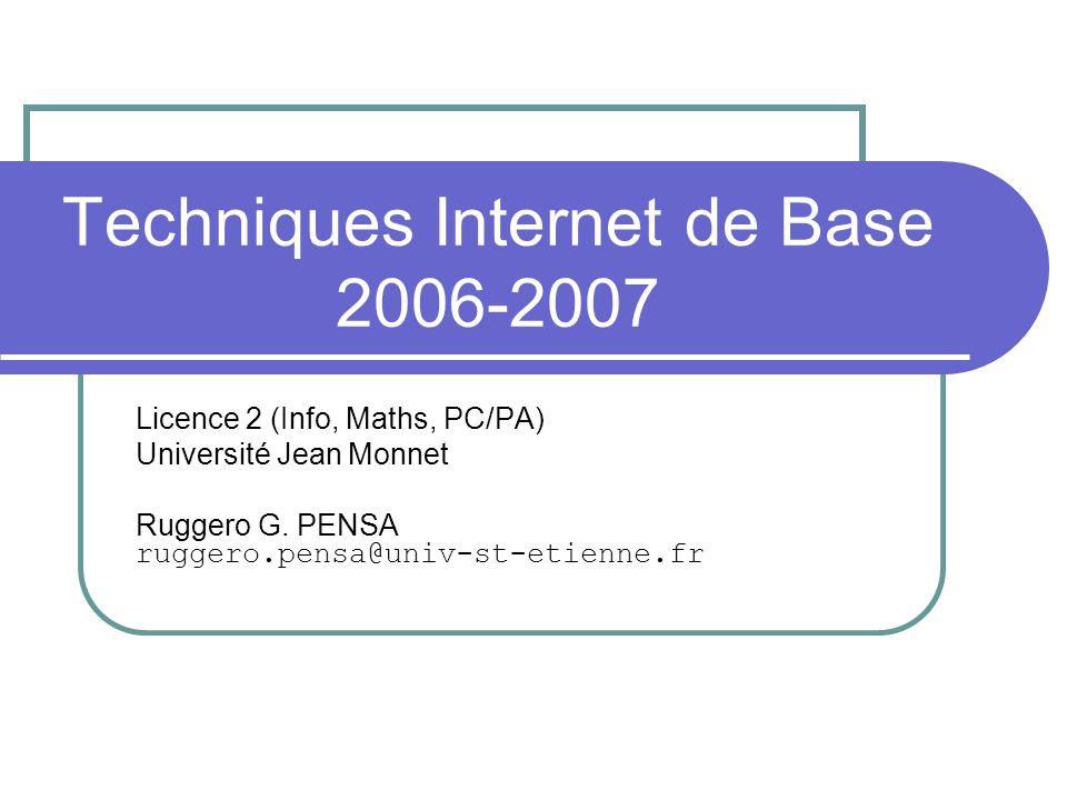 Techniques Internet de Base 2006-2007
