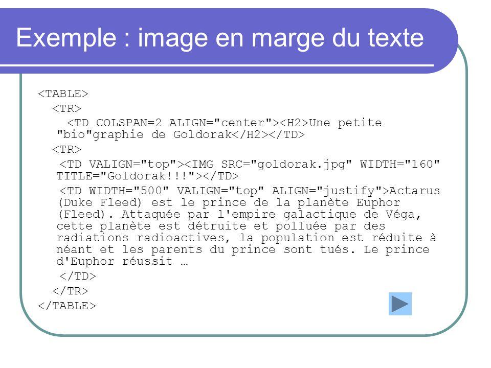 Exemple : image en marge du texte