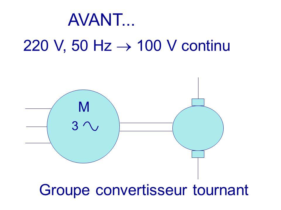 AVANT... 220 V, 50 Hz  100 V continu Groupe convertisseur tournant M