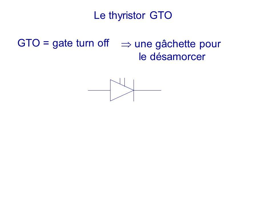 Le thyristor GTO GTO = gate turn off  une gâchette pour le désamorcer