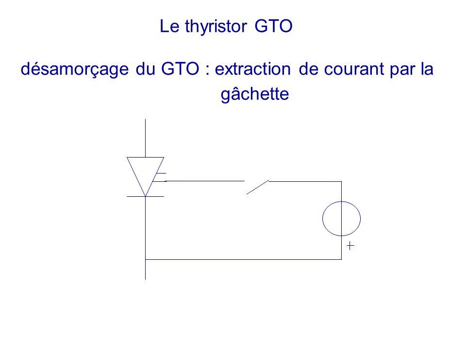 Le thyristor GTO désamorçage du GTO : extraction de courant par la gâchette
