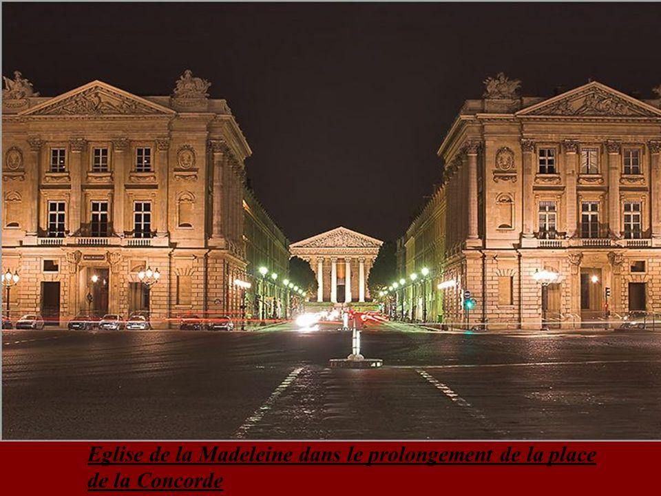 Eglise de la Madeleine dans le prolongement de la place de la Concorde