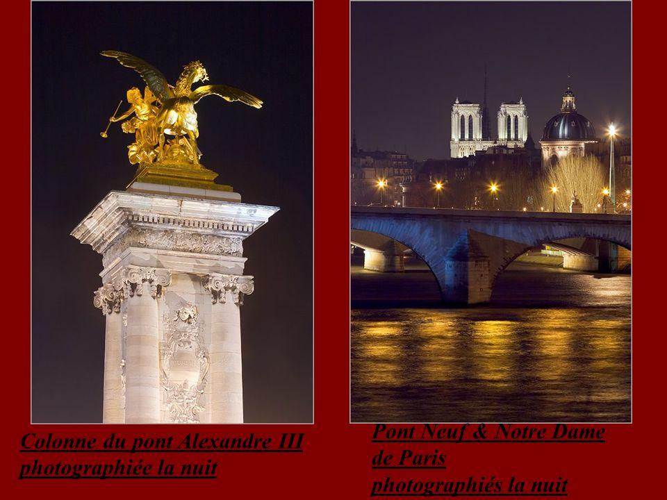 Pont Neuf & Notre Dame de Paris photographiés la nuit