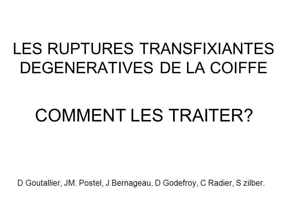 LES RUPTURES TRANSFIXIANTES DEGENERATIVES DE LA COIFFE