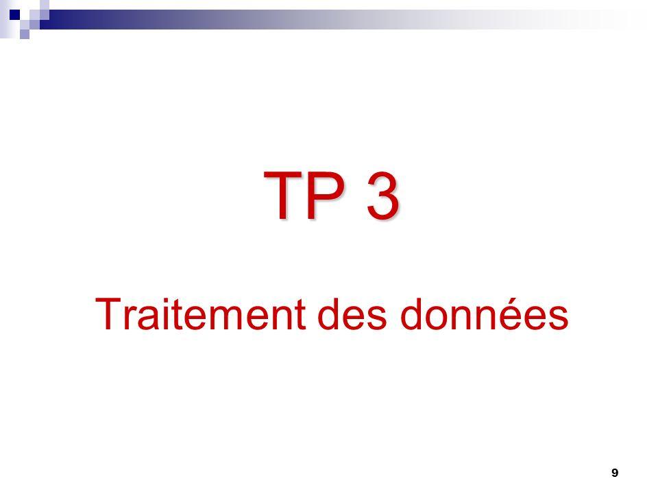 TP 3 Traitement des données