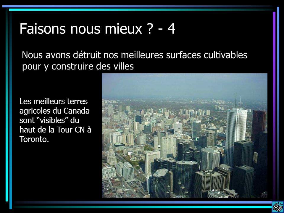 Faisons nous mieux - 4 Nous avons détruit nos meilleures surfaces cultivables pour y construire des villes.