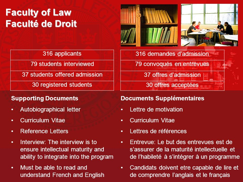 Faculty of Law Faculté de Droit