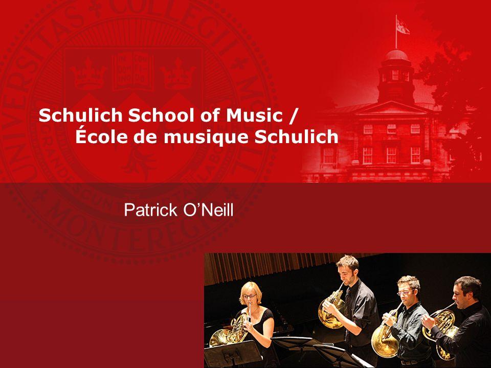 Schulich School of Music / École de musique Schulich