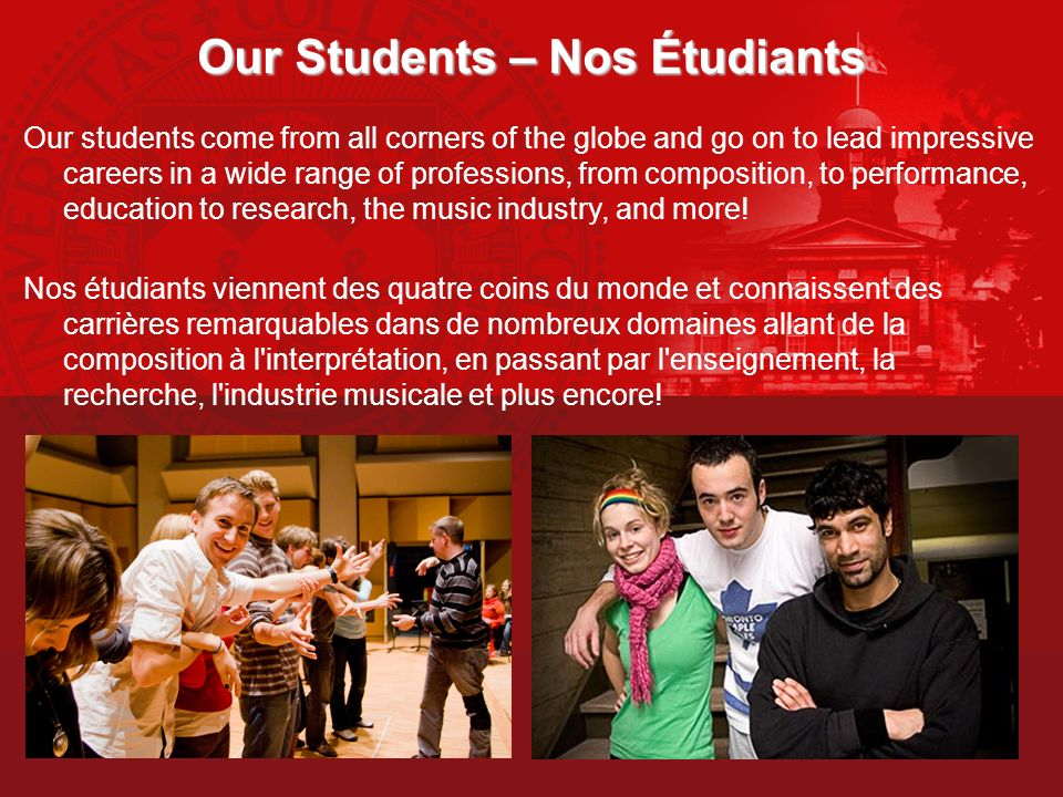 Our Students – Nos Étudiants