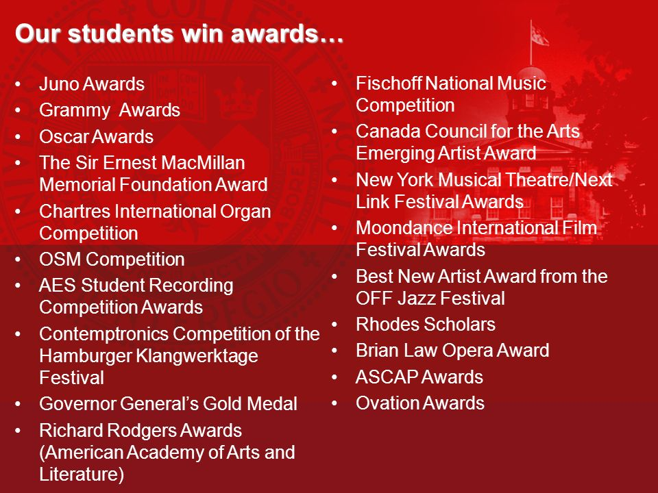 Our students win awards…