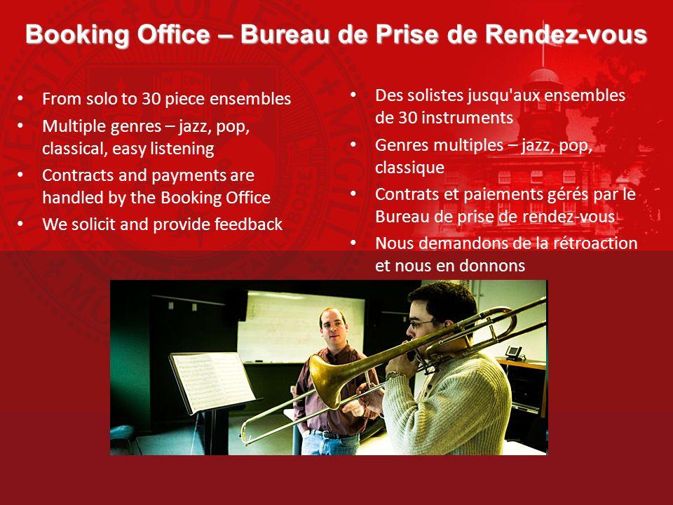 Booking Office – Bureau de Prise de Rendez-vous