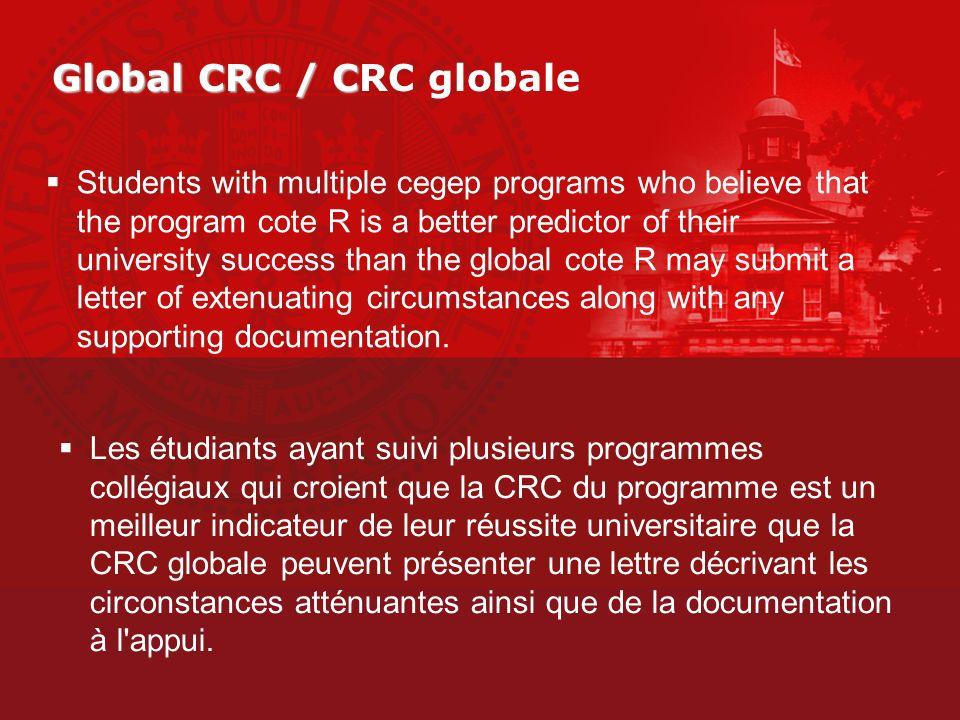 Global CRC / CRC globale