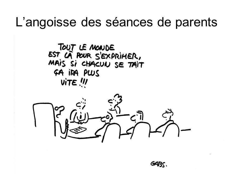 L'angoisse des séances de parents
