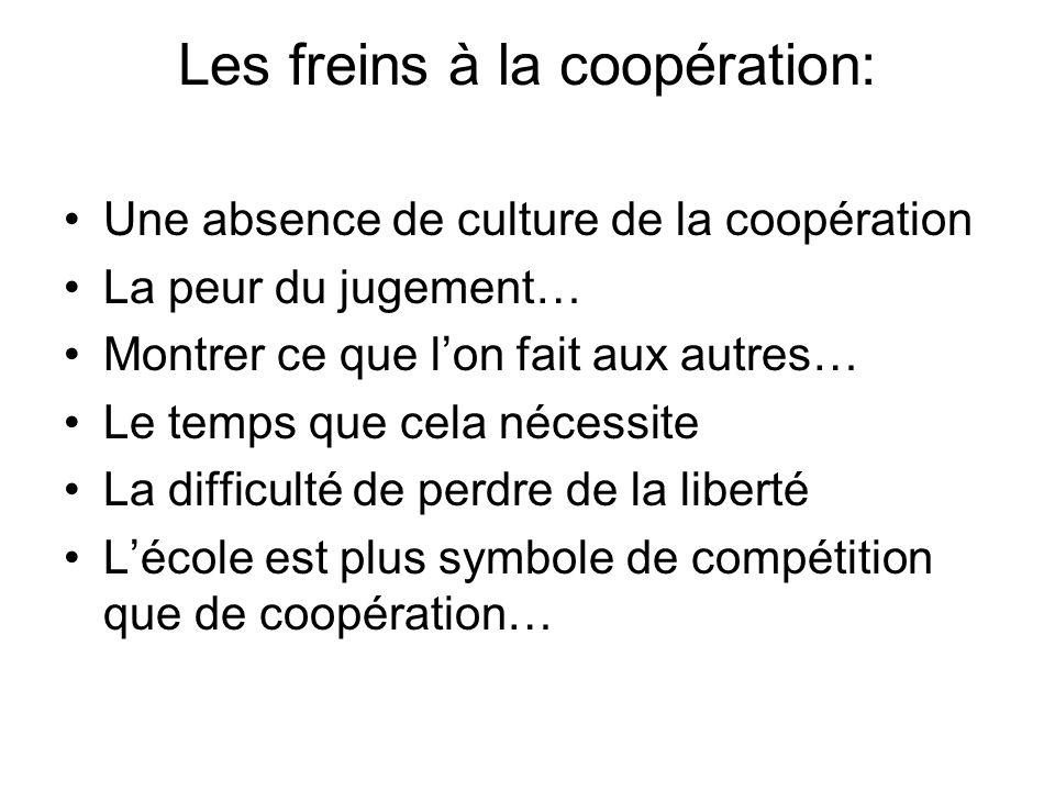 Les freins à la coopération: