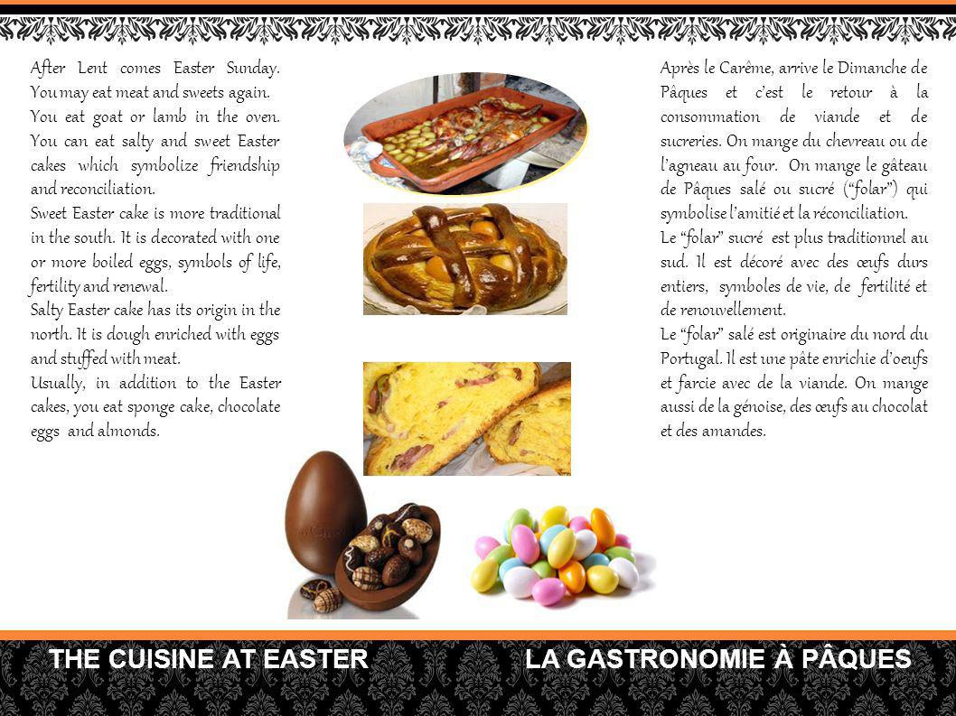 THE CUISINE AT EASTER LA GASTRONOMIE À PÂQUES