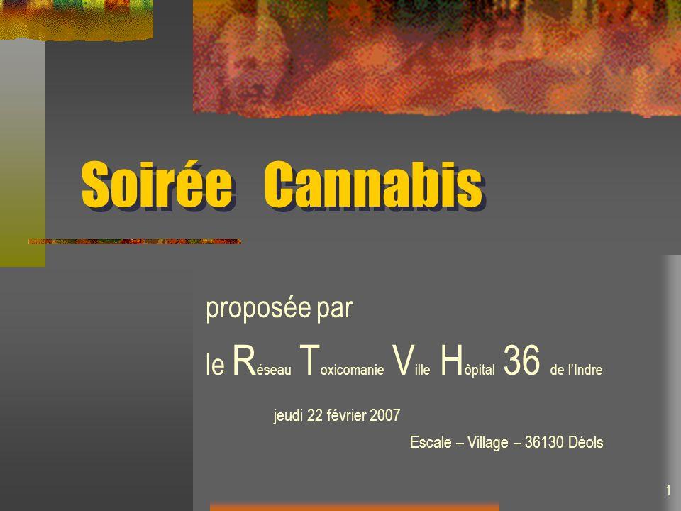Soirée Cannabis proposée par