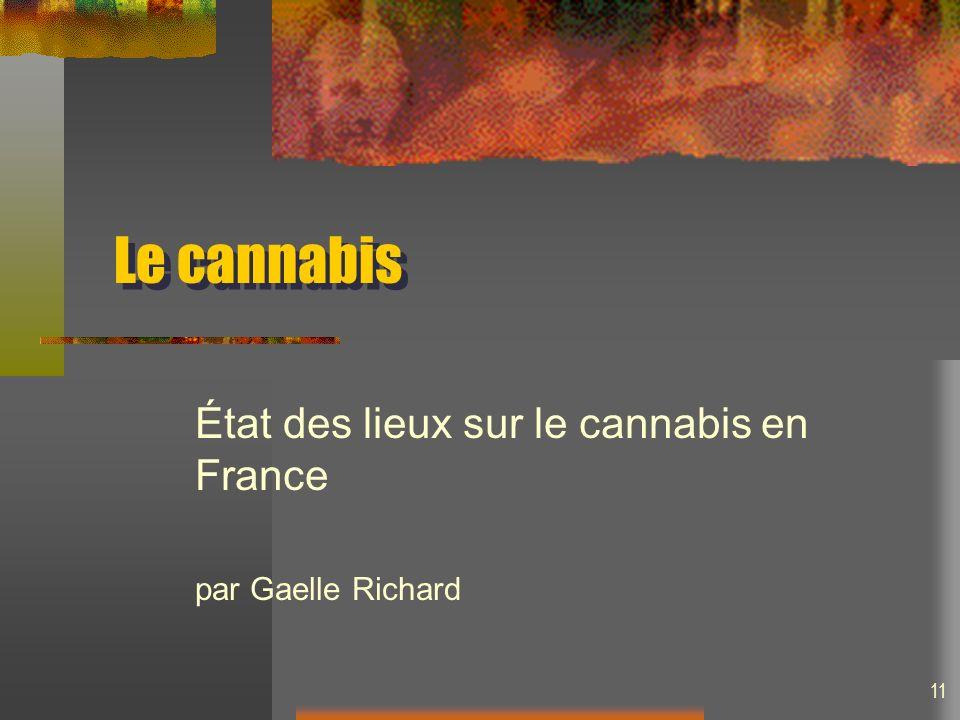 État des lieux sur le cannabis en France par Gaelle Richard