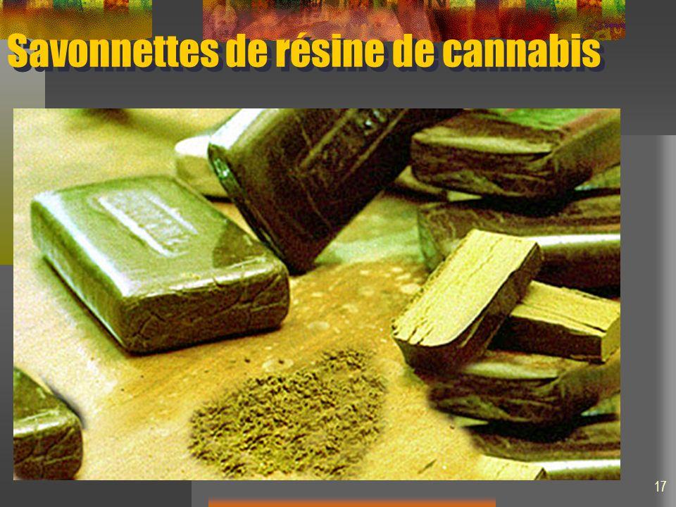 Savonnettes de résine de cannabis