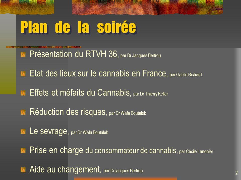Plan de la soirée Présentation du RTVH 36, par Dr Jacques Bertrou