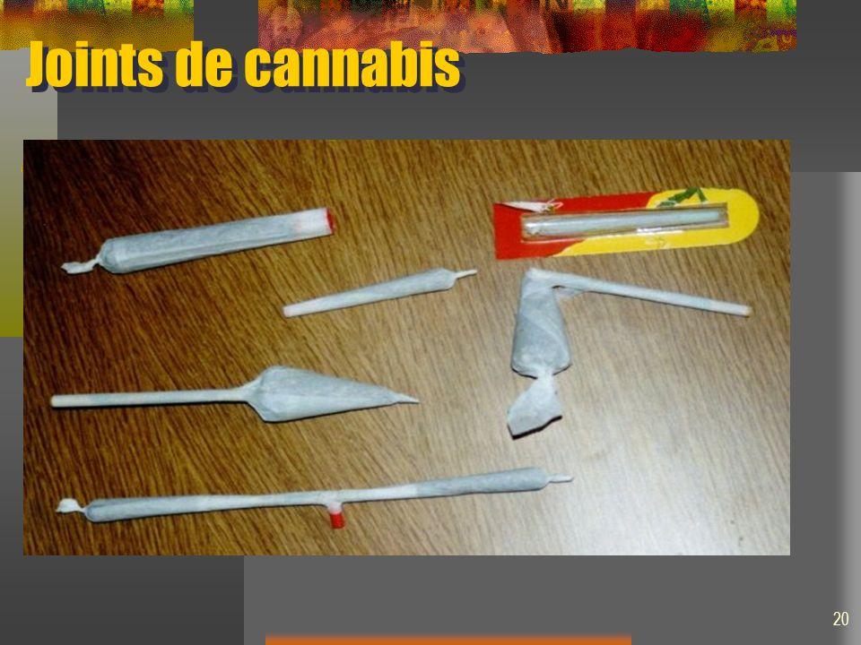 Joints de cannabis