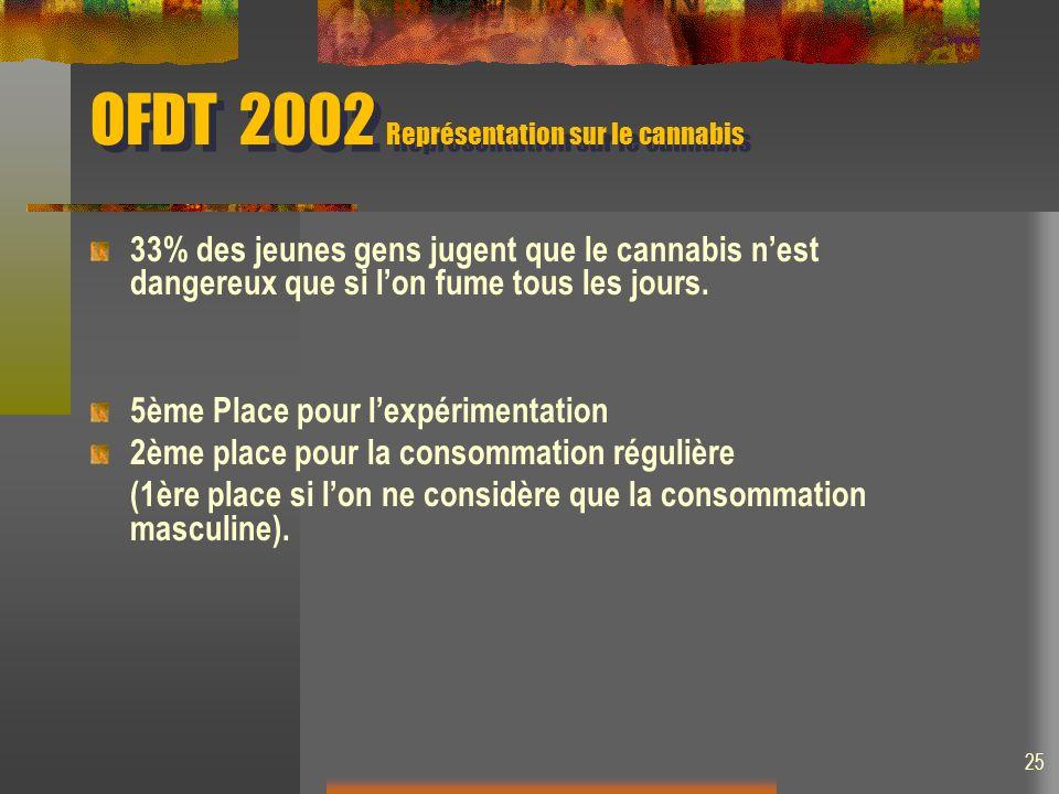 OFDT 2002 Représentation sur le cannabis