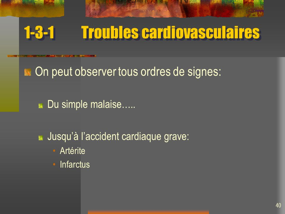 1-3-1 Troubles cardiovasculaires