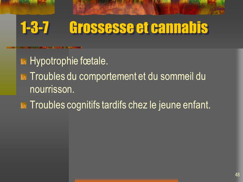 1-3-7 Grossesse et cannabis