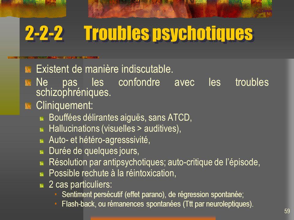 2-2-2 Troubles psychotiques