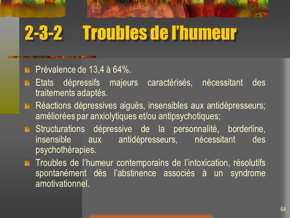 2-3-2 Troubles de l'humeur