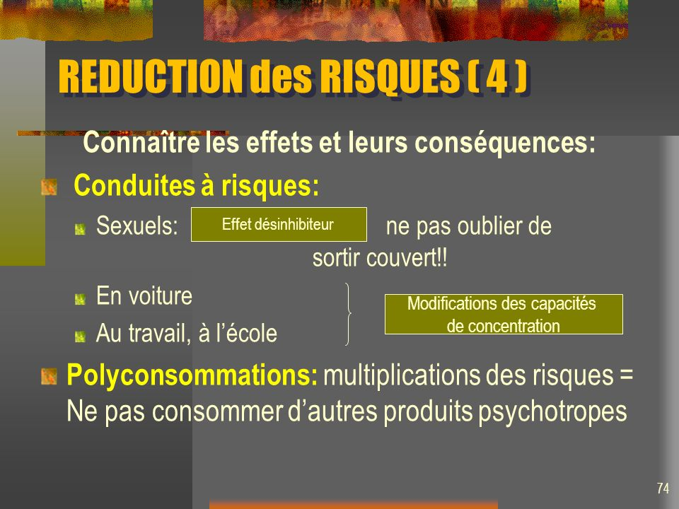 REDUCTION des RISQUES ( 4 )