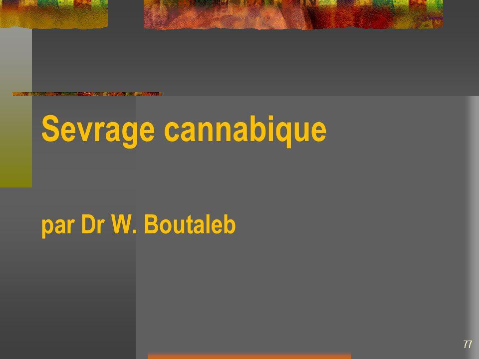 Sevrage cannabique par Dr W. Boutaleb