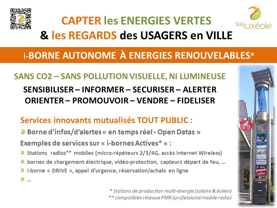 CAPTER les ENERGIES VERTES & les REGARDS des USAGERS en VILLE