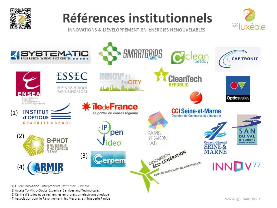 Références institutionnels