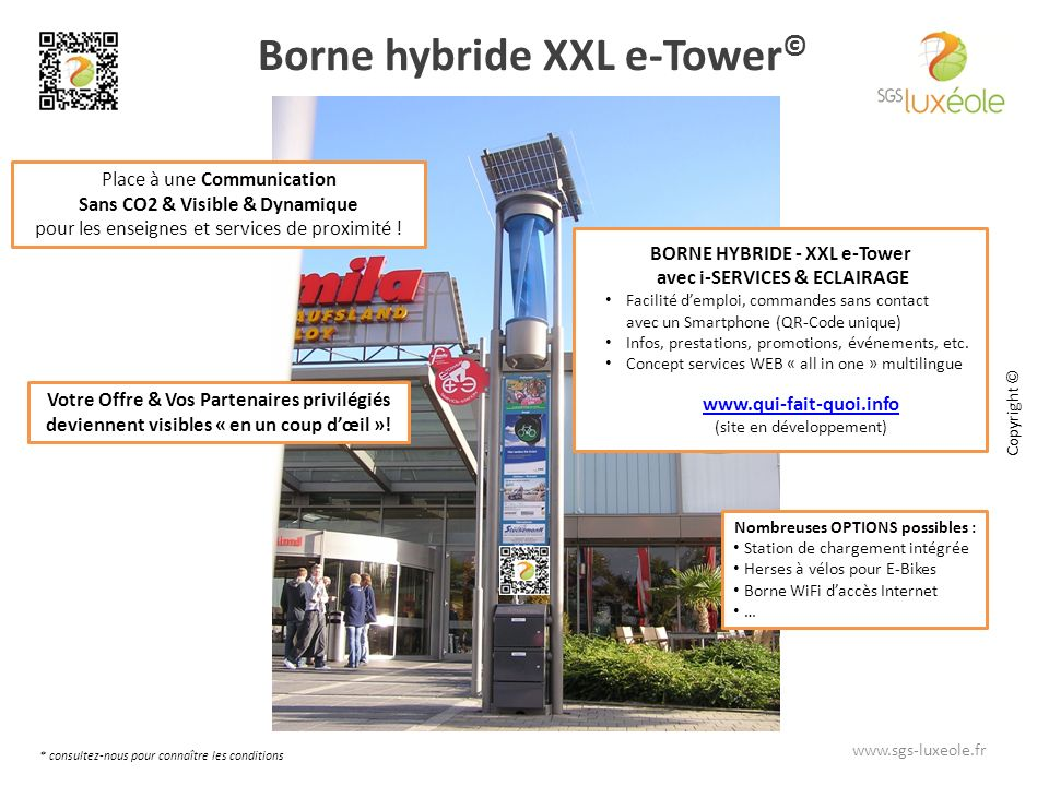 Borne hybride XXL e-Tower©
