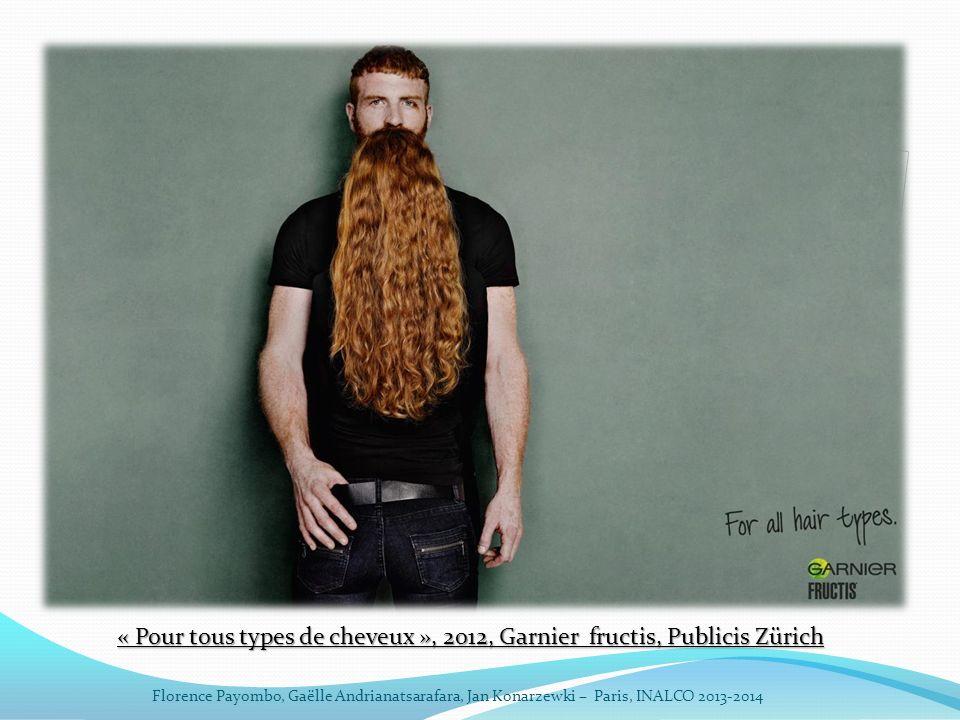 « Pour tous types de cheveux », 2012, Garnier fructis, Publicis Zürich